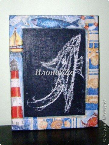 Мастер-класс Поделка изделие Грифельная доска МК Картон Краска фото 9