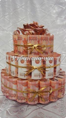 Торт из денег своими руками пошаговая инструкция