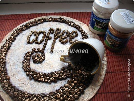 Картина панно рисунок Мастер-класс 23 февраля 8 марта День рождения Ассамбляж Панно  Кофейный аромат МК Кофе фото 17