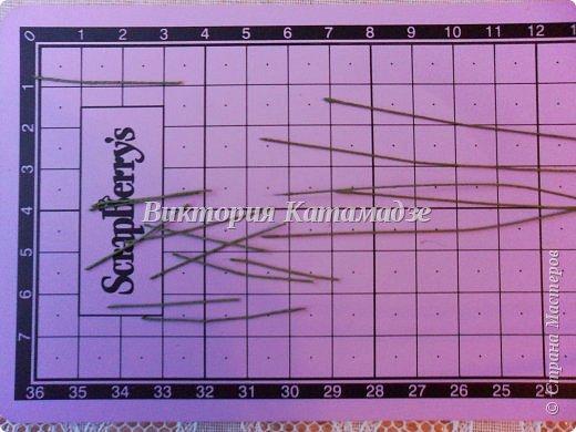 Мастер-класс Украшение 8 марта Моделирование конструирование Создание мимозы из шерсти и шелка Бумага гофрированная Клей Краска Крупа Ткань фото 7