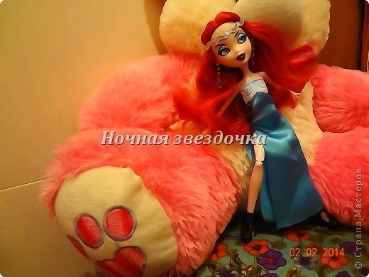 """Всем приветик!!!Мы с моими куклами решили поучаствовать в замечательном конкурсе """"Моё шикарное платье"""" . Я сделала несколько платьев. Вот первое: фото 1"""