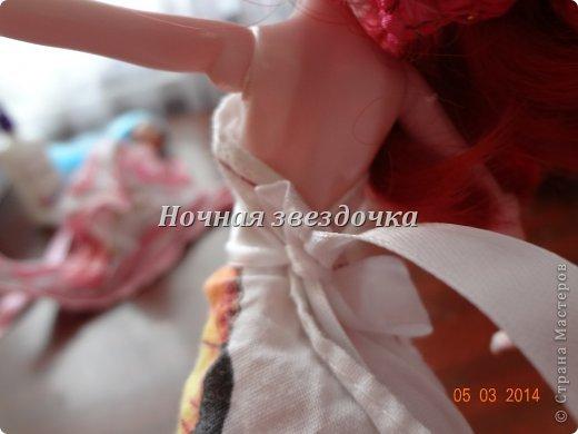 """Всем приветик!!!Мы с моими куклами решили поучаствовать в замечательном конкурсе """"Моё шикарное платье"""" . Я сделала несколько платьев. Вот первое: фото 6"""