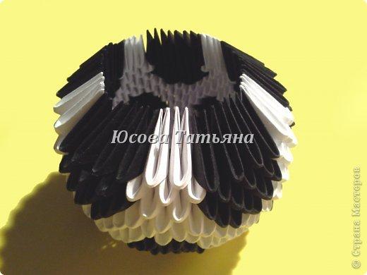 Количество модулей для сборки мяча 615 шт. - 390 белых модулей и 225 чёрных, размер А4 1/32. фото 19