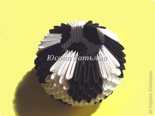Количество модулей для сборки мяча 615 шт. - 390 белых модулей и 225 чёрных, размер А4 1/32. фото 20
