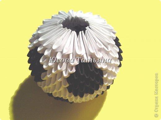 Количество модулей для сборки мяча 615 шт. - 390 белых модулей и 225 чёрных, размер А4 1/32. фото 23