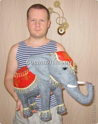 Здравствуйте, все! Я к вам в гости со слоном. Очень мне захотелось, чтобы в доме стоял слоник в красивой попоне. Помечтала, представила, даже заготовки наделала... а слон уже появился в СМ у Ольги http://stranamasterov.ru/node/548414. Я опечалилась и забыла про своего слона. Спустя какое-то время попались мне на глаза эти самые заготовки. Ну не пропадать же моим стараниям! Решила доделать и подарить сестре! фото 17