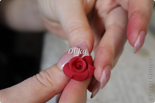 Здравствуйте, Мастерицы!!! Сегодня я хочу поделиться с Вами тем, как я делаю свои розочки из пластики. На сходство с живой розой не претендую. :))) Начнем??? фото 11