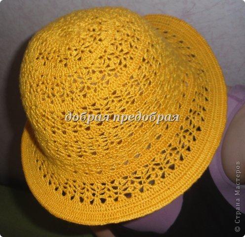 крючком летние шляпки и