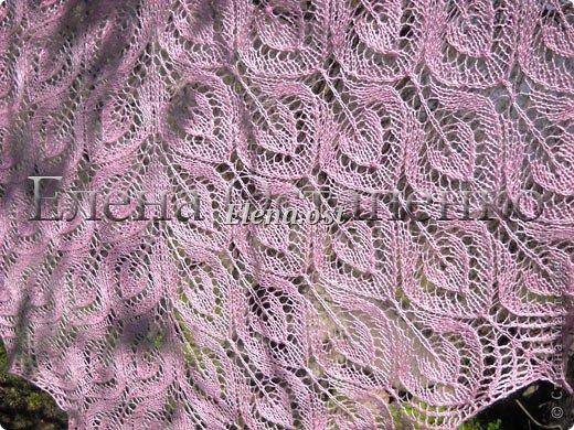 Весна пришла цветущая. И я непременно радую себя красивой шалью в розовых тонах. Моя новая шаль Гейл - Gail shawl  by Jane Araújo. Связала из Gazzal EXCLUSIVE - 100 г. Спицы №3. Бисер использовала чешский. фото 5