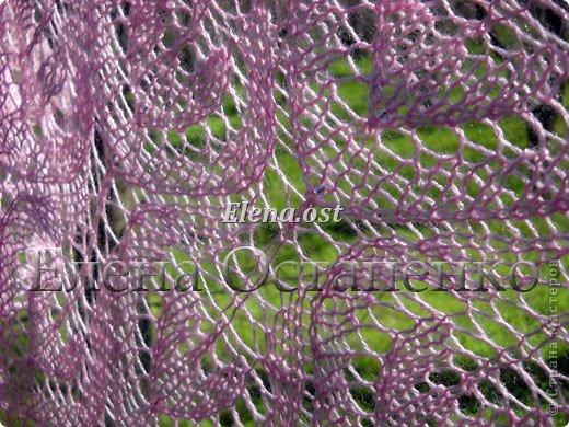 Весна пришла цветущая. И я непременно радую себя красивой шалью в розовых тонах. Моя новая шаль Гейл - Gail shawl  by Jane Araújo. Связала из Gazzal EXCLUSIVE - 100 г. Спицы №3. Бисер использовала чешский. фото 6