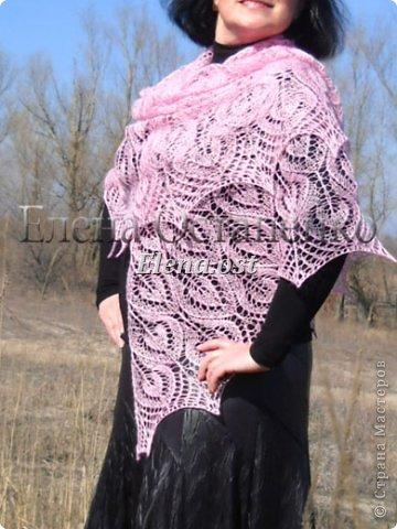 Весна пришла цветущая. И я непременно радую себя красивой шалью в розовых тонах. Моя новая шаль Гейл - Gail shawl  by Jane Araújo. Связала из Gazzal EXCLUSIVE - 100 г. Спицы №3. Бисер использовала чешский. фото 7