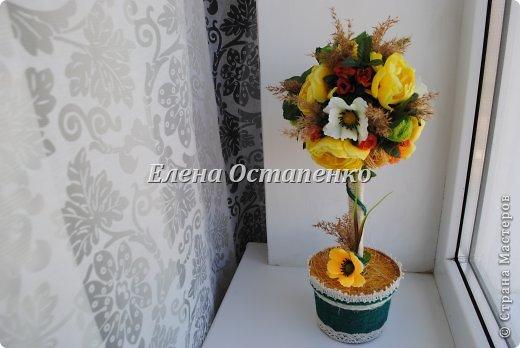 Топиарии из искусственных цветов. фото 1