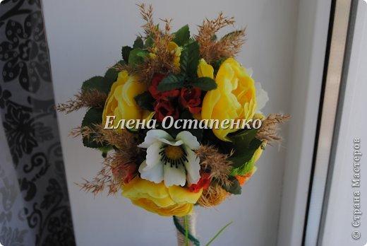 Топиарии из искусственных цветов. фото 2