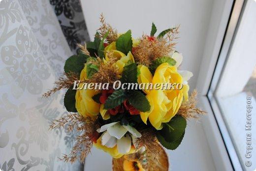 Топиарии из искусственных цветов. фото 3