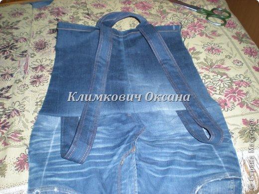 Как сшить из старых джинс детский рюкзак для фото 200