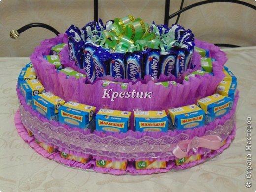 Как сделать на день рождения торт из бумаги 581