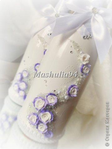 Добрый вечер, девочки)) заказали мне свадебный набор в нежно сиреневых оттенках, вот что получилось)) фото 5