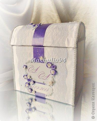 Добрый вечер, девочки)) заказали мне свадебный набор в нежно сиреневых оттенках, вот что получилось)) фото 6