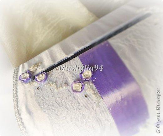 Добрый вечер, девочки)) заказали мне свадебный набор в нежно сиреневых оттенках, вот что получилось)) фото 8