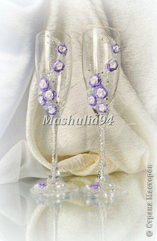 Добрый вечер, девочки)) заказали мне свадебный набор в нежно сиреневых оттенках, вот что получилось)) фото 2
