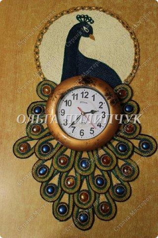 """Настенные часы """"Павлин"""" фото 1"""