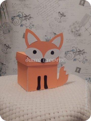 Вот такой лисенок у меня получился, а точнее коробочка с сюрпризом на день рождения. фото 3