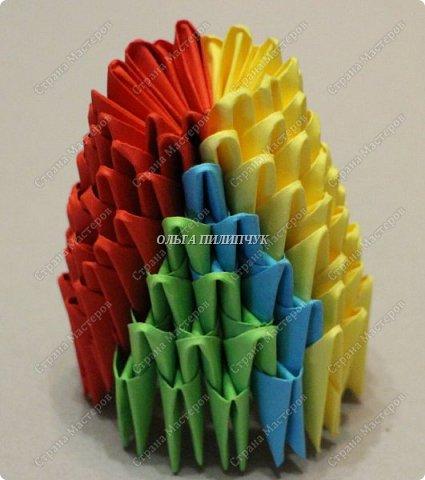 Для сборки петуха необходимо всего 359 модулей  (1/32) 150 - модулей красного  цвета 101 -  модуль жёлтого цвета    51 -  модуль зелёного цвета    40 -  модулей синего цвета    17 -  модулей оранжевого цвета   фото 10